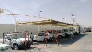 مظلات سيارات الباحة